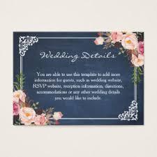 wedding registry templates wedding registry insert business cards templates zazzle