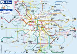 Paris Train And Metro Map by Map Of Paris Bus U0026 Noctilien Stations U0026 Lines