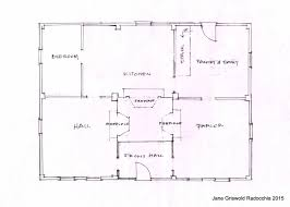 Classic Colonial Floor Plans by Jane Griswold Radocchia The Cobb Hepburn House Frame Tinmouth Vt