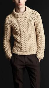 men u0027s knitted sweaters u0026 cardigans chunky cable knit sweater