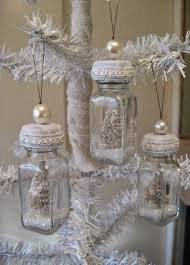 snow globe ornaments made from salt and pepper shakers