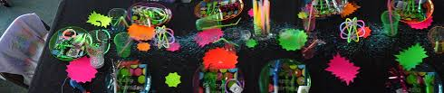 Glow In The Dark Table by Gavin U0027s Glow In The Dark 10th Birthday Party Three Lads And A