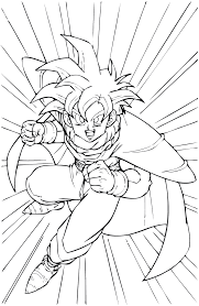 coloriage de dragon ball gt a imprimer az coloriage