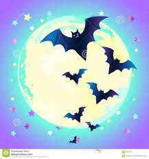 Halloween Vector Illustration Creepy Cute Vector Bat Flying Aga