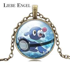 fine chain pendant necklace images Liebe engel pokemon popplio necklace pokeball retro glass cabochon jpg
