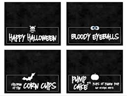 spooky halloween dinner with food cards