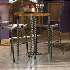 Marble Top Bar Table Riverside Furniture Medley Marbletop Pub Table With Metal Legs And