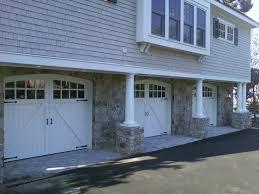 new england garage door v grooved cedar paint grade doors