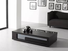 sofa center table glass top rectangular coffee table in modern living room stained black with