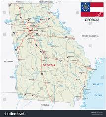 Georgia Road Map Georgia Road Map Flag Stock Vector 305277788 Shutterstock