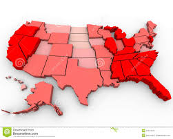 United States Map Clip Art by Unemployment Rates United States Map Royalty Free Stock Images