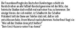 schalke spr che sport die frauenbeauftragte des deutschen auf spruch sprüche