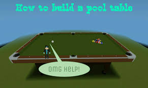 build a pool table how to build a pool table minecraft pe youtube