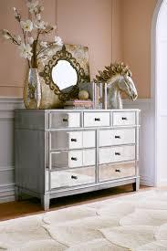 Metal Bedroom Dresser Hayworth Mirrored Dresser Amazing Unique Design Laminated Gray
