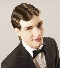 short haircuts for men with curly hair vintage men u0027s haircut with finger waves