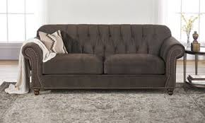 Gray Nailhead Sofa by Living Room Furniture Warehouse Prices The Dump America U0027s