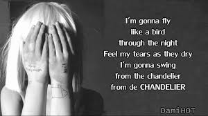 Gonna Swing From The Chandelier Sia Chandelier Lyrics Official Video Video Dailymotion