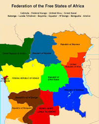 africa map states africa federation of free states of africa