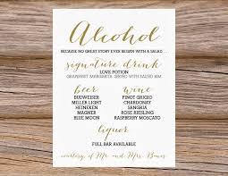 wedding drink menu template bar menu templates carbon materialwitness co