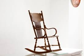 Bent Wood Rocking Chair Sold Antique Child U0027s Rocking Chair With Hand Tooled Leather Seat