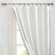White Curtains With Pom Poms Decorating Gorgeous Pom Pom Curtains Decorating With Pom Pom Blackout Drape