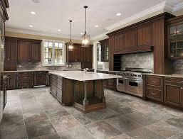 Tile Ideas For Kitchen Glass Tile As Backsplash Cherry Cabinets Backsplash Subway Tile