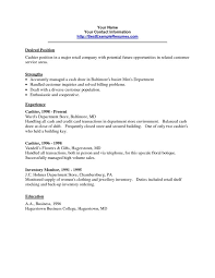 cover letter for cashier job resume for cashier and customer