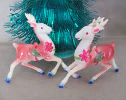 Christmas Reindeer Statue Decorations by Christmas Reindeer Etsy