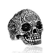 steel skull rings images Stainless steel skull rings and biker rings for sale jpg
