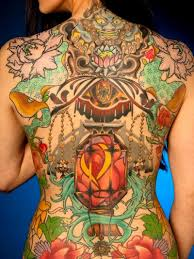hell n heaven feminine on back tattoos book 65 000