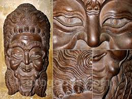 wall masks balinese large wooden carved wall mask ethnic style home