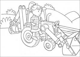 free colouring pages bob builder coloring pages