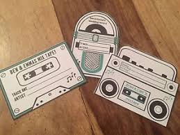 wedding song request cards 10x retro style wedding song request cards boombox casette jukebox
