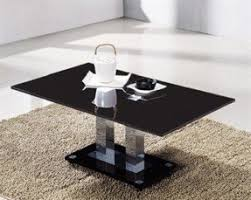 Black Gloss Side Table Black And Chrome Coffee Table Foter