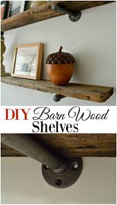 Diy Restoration Hardware Reclaimed Wood Shelf by Diy Barn Wood Shelves Shelves Industrial And Bedrooms