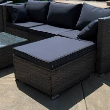 Wicker Sofa Bed by 6pc Outdoor Patio Patio Sectional Furniture Pe Wicker Rattan Sofa