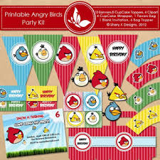 shery designs free printable birthday kit angry birds