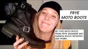 motorcycle boots harness frye engineer and harness motorcycle boots youtube