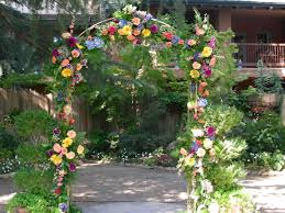 wedding arch used arch wedding white metal a h rents inc