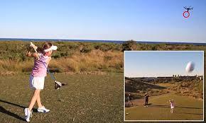onem bureau australian golfing sensation ruby kavanagh hits a drone and knocks