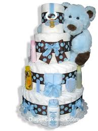 diper cake brown blue 4 or 5 tier cake at best prices