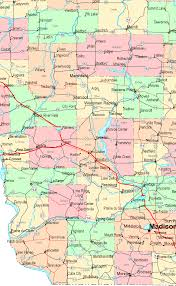 Maps Wisconsin by Online Map Of Wisconsin South West