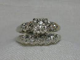 Antique Wedding Rings by Antique Wedding Ring Sets Gia Certified 2 Carat Princess Cut