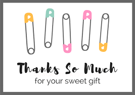 thank you baby shower baby shower thank you card wording free printables