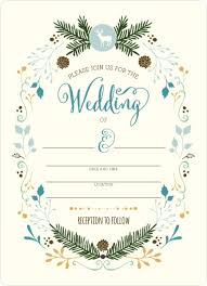 blank wedding programs whimsical woodland foliage fill in the blank wedding invitation