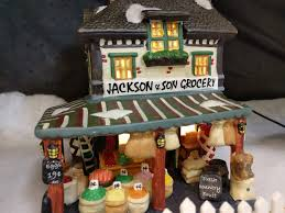 Menards Dog House Jackson U0026 Son Grocery Lemax Christmas Village At Menards