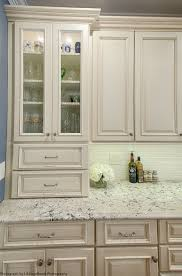 furniture broken white wooden kitchen cabinet with gray marble