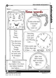 time words u2013 free primary ks1 teaching resource scholastic