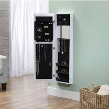 Kirklands Jewelry Armoire Decorating Wall Mount Jewelry Armoire With Mirror And Lock For