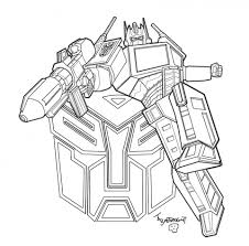 printable transformers robot coloring pages boys 75813